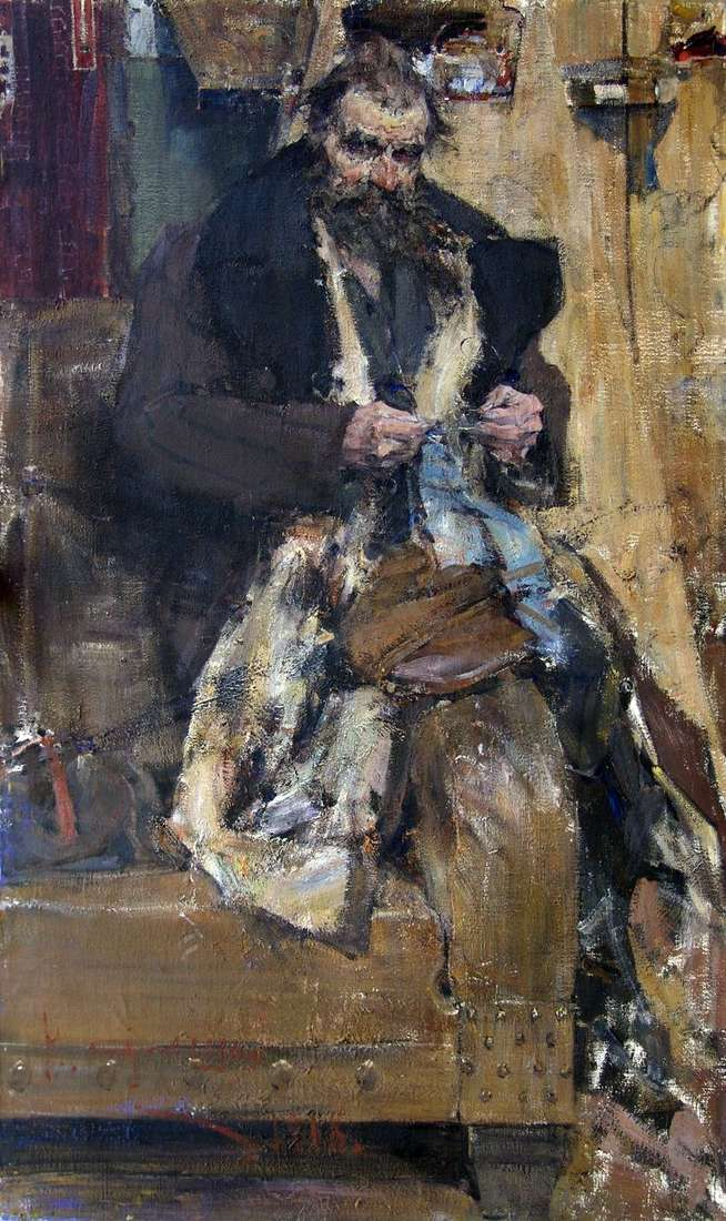 Portrait of the father by Nikolay Feshin