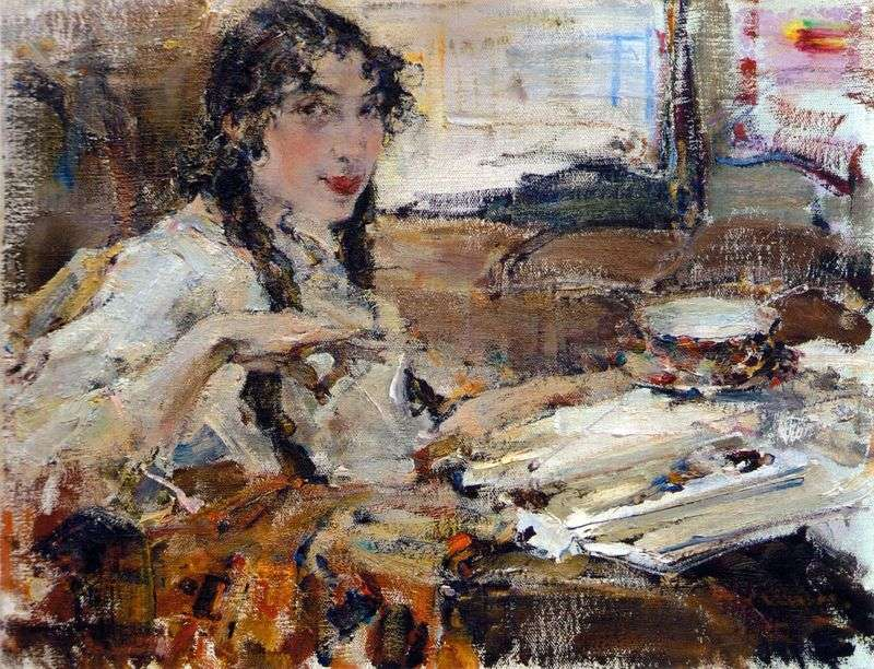 Portrait of Tatiana Popova by Nikolay Feshin