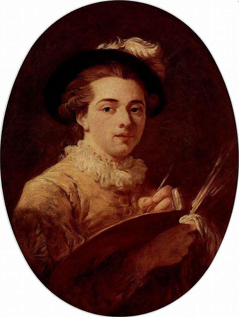 Self portrait by Jean Honore Fragonard