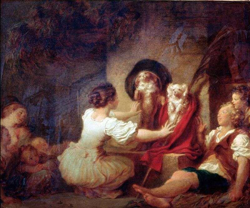 Education makes everything by Jean Honore Fragonard
