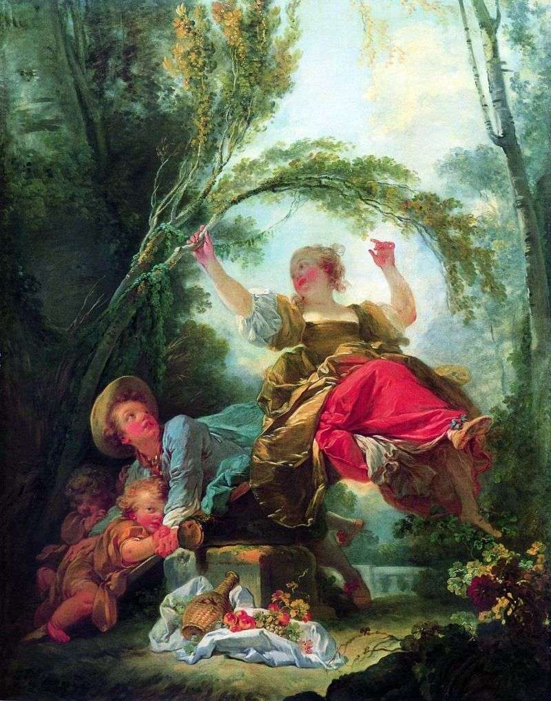 Baby swings by Jean Honore Fragonard