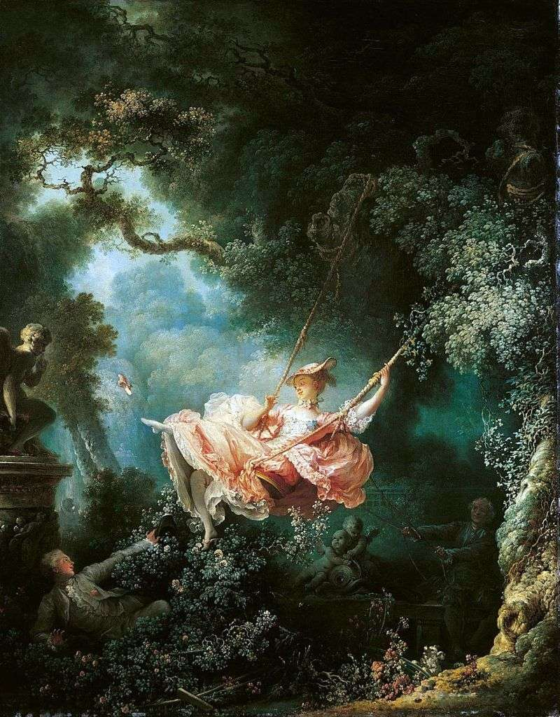 Swings by Jean Honore Fragonard