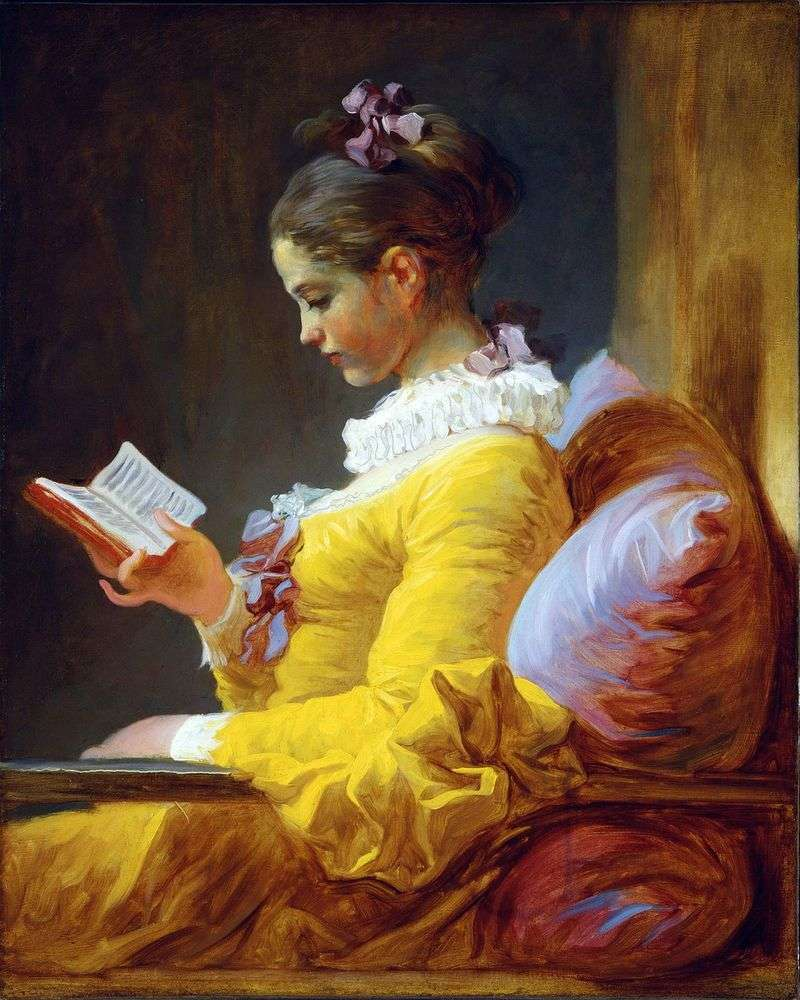Young reader by Jean Honore Fragonard