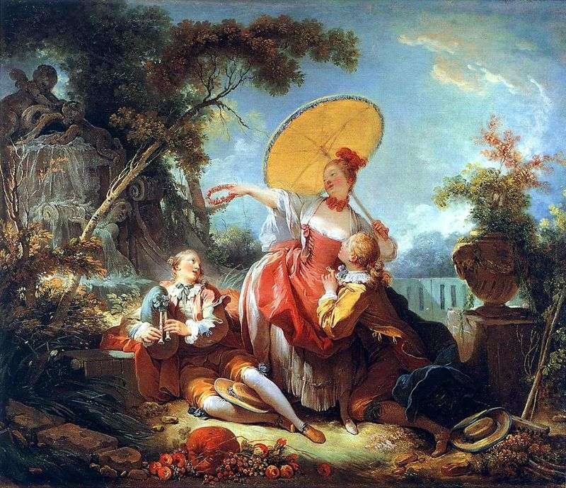 Musical betting by Jean Honoré Fragonard