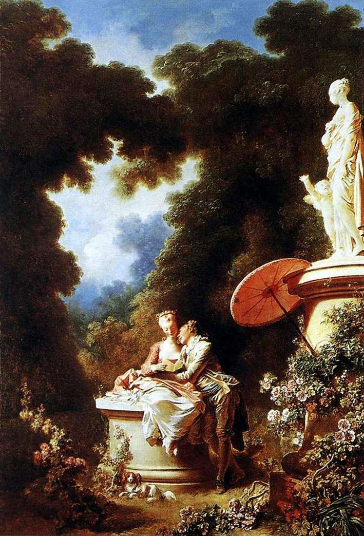 The bonds of love by Jean Honore Fragonard