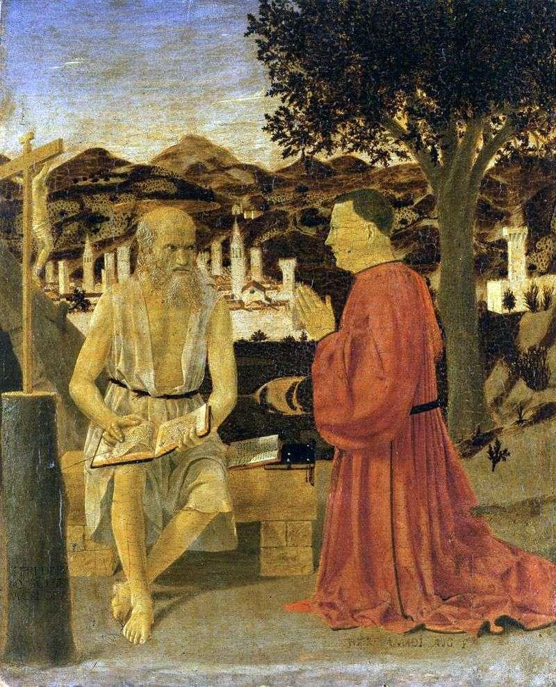St. Jerome with Donator by Piero della Francesca