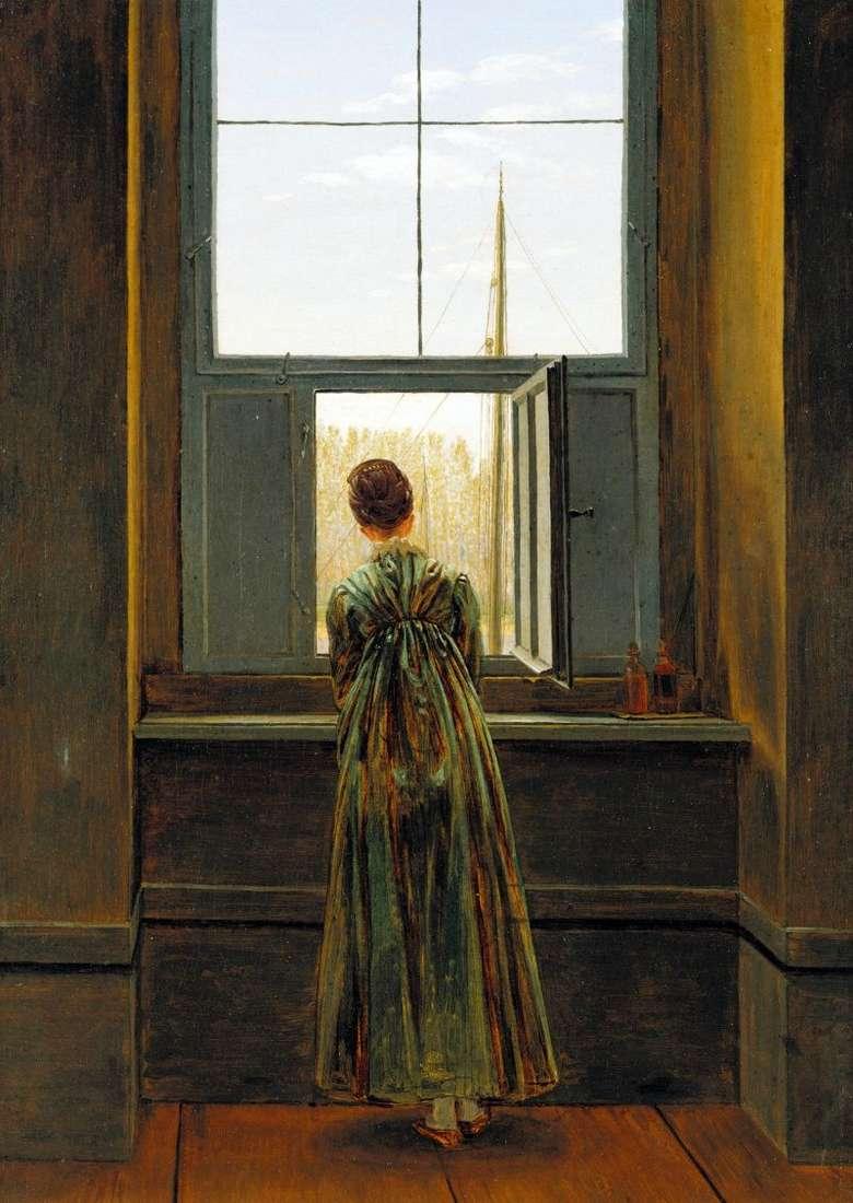 The woman at the window by Kaspar David Friedrich