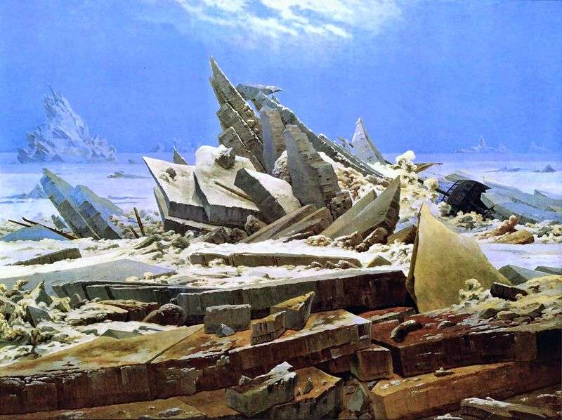 Shipwreck in the Arctic by Caspar David Friedrich