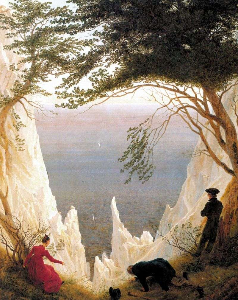 Cretaceous rocks on the island of Rügen by Kaspar David Friedrich