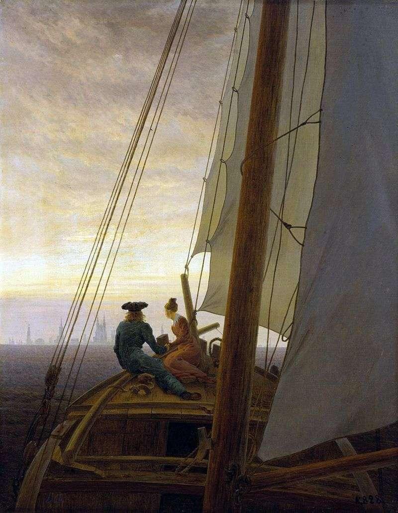 On the sailboat by Kaspar David Friedrich