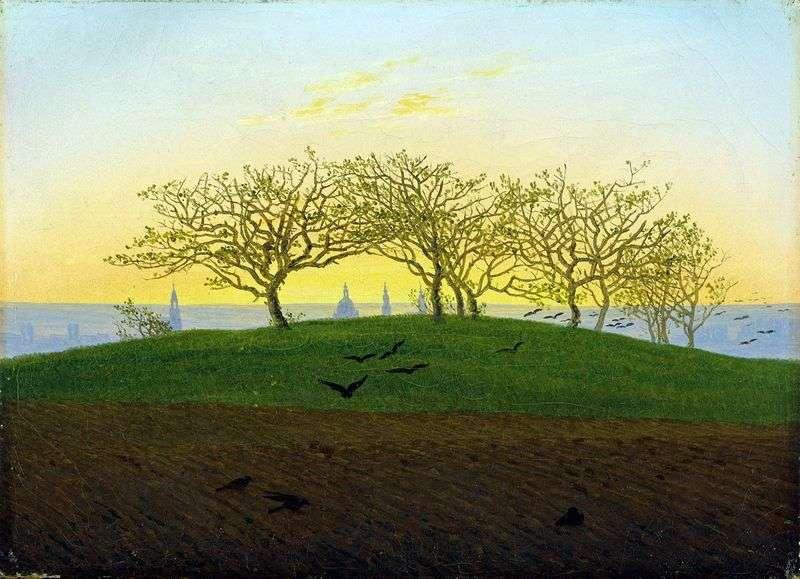 Arable land near Dresden by Kaspar David Friedrich