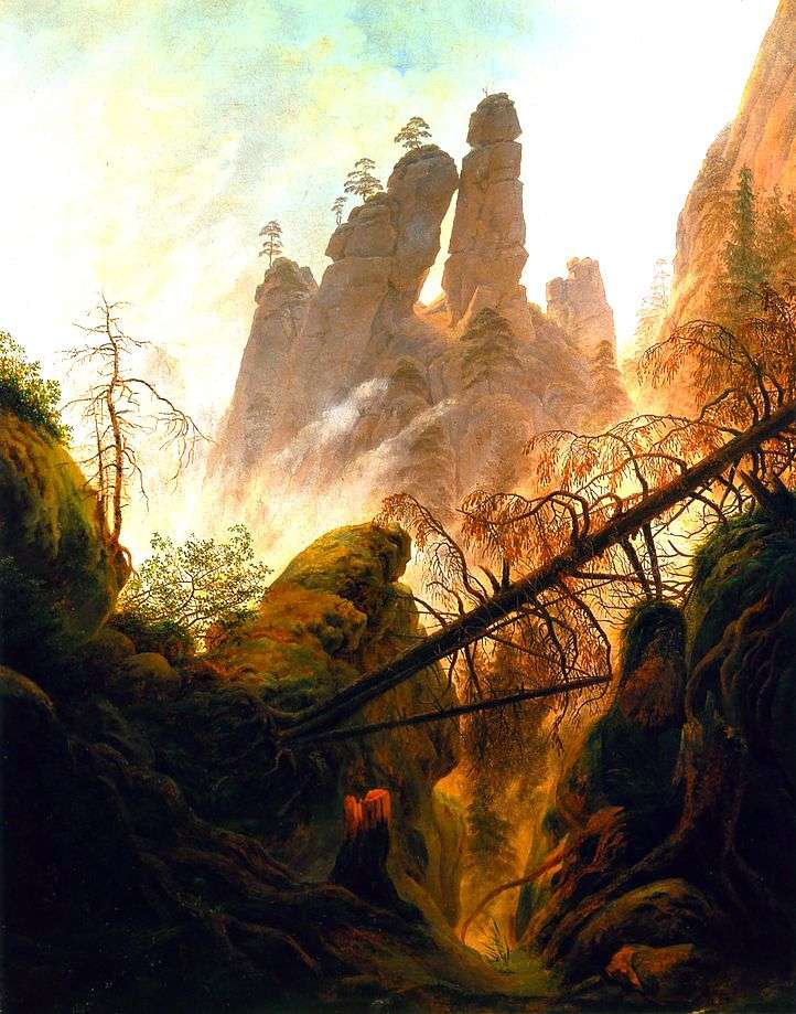 Gorge by Caspar David Friedrich