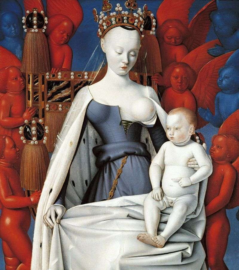 Madonna and Child by Jean Fouquet