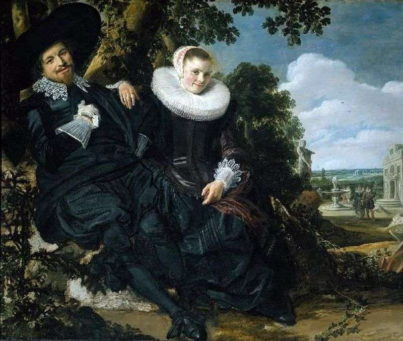 A family portrait of Isaac Massa and his wife by Frans Hals