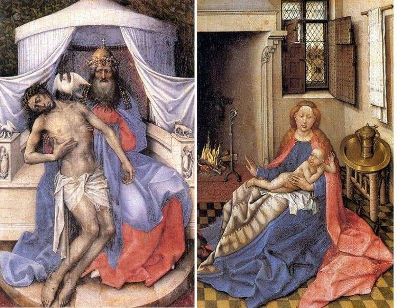 Trinity. Madonna and Child (diptych) by Robert Kampen