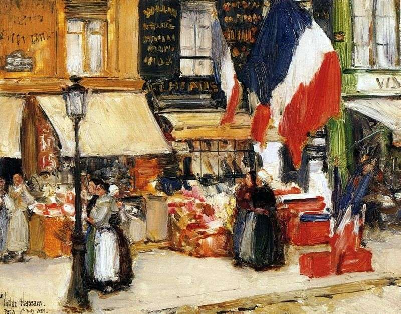 Day of the Bastille, Paris by Child Hassam