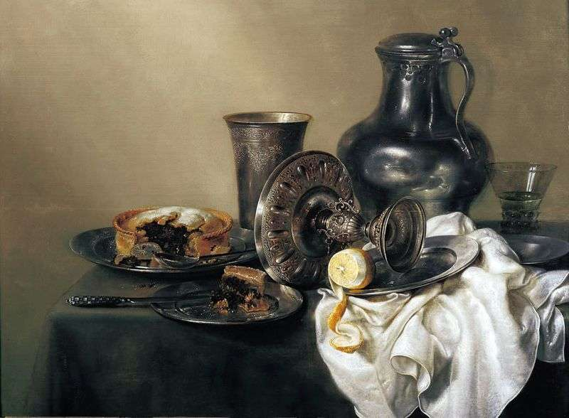 Still life with a golden cup by Willem Klas Kheda