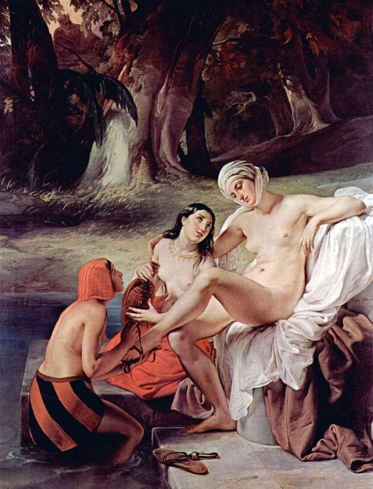 Bathsheba (Bathsheba), swimming by Francesco Hayes