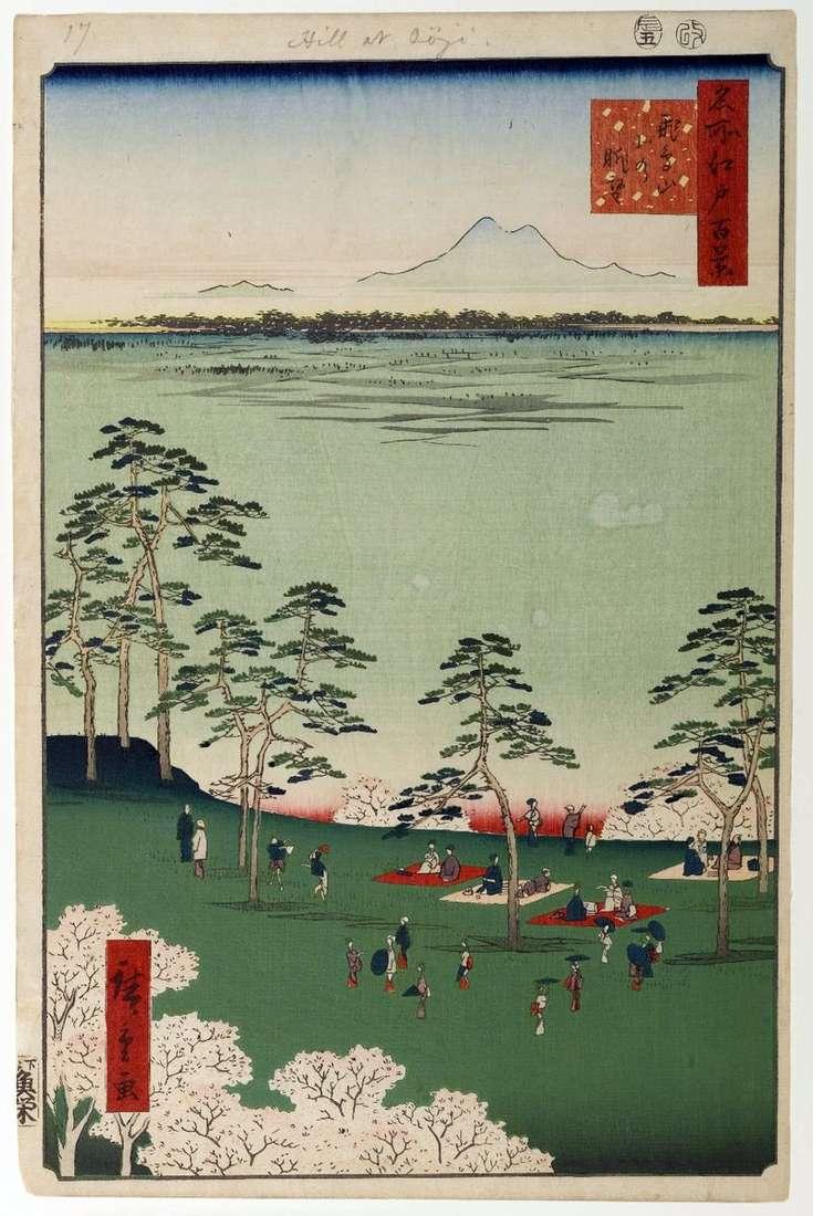View to the north from Asukayama Mountain by Utagawa Hiroshige