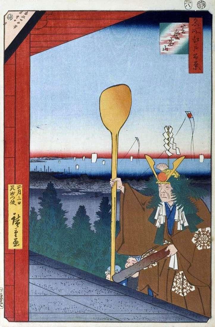 Mount Atagoyama in the Siba area by Utagawa Hiroshige