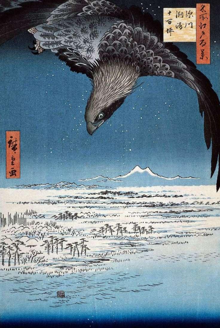 The area of Susaki and Dzyumantsubo in Fukagawa by Utagawa Hiroshige