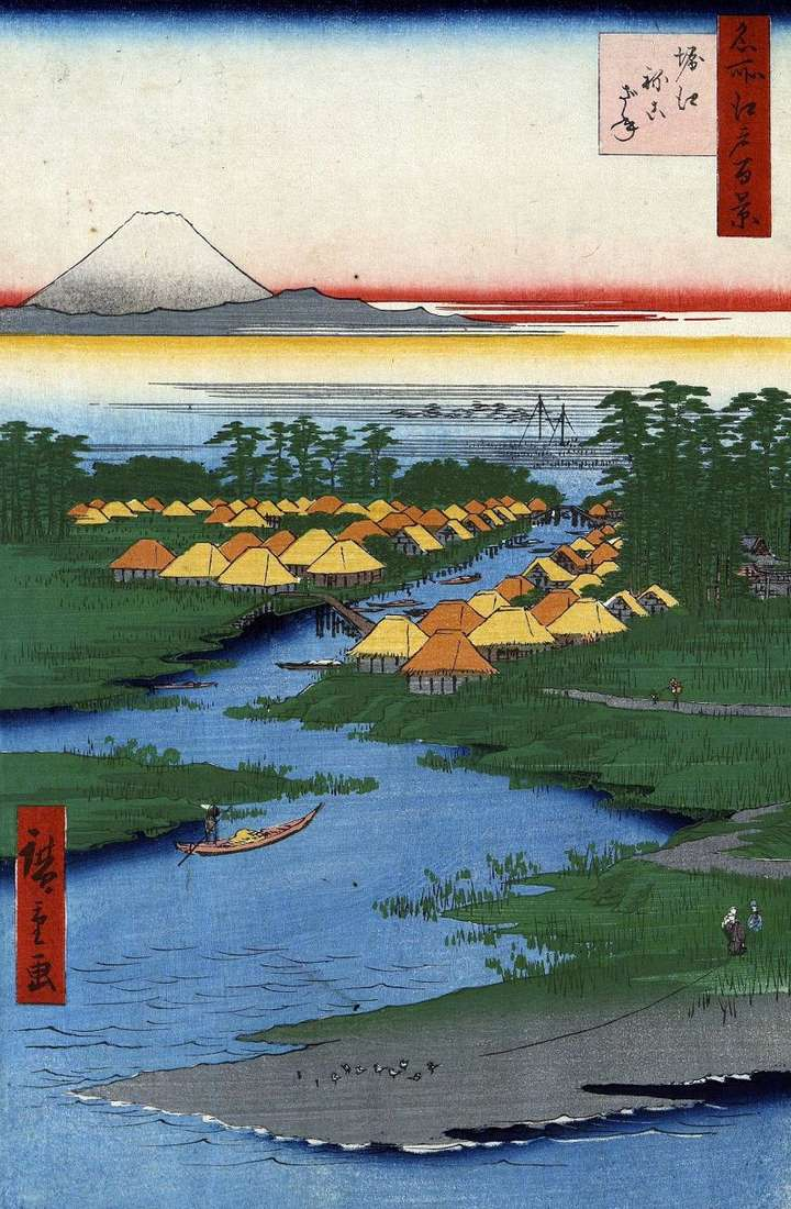 The terrain of Horie and Nekozane by Utagawa Hiroshige