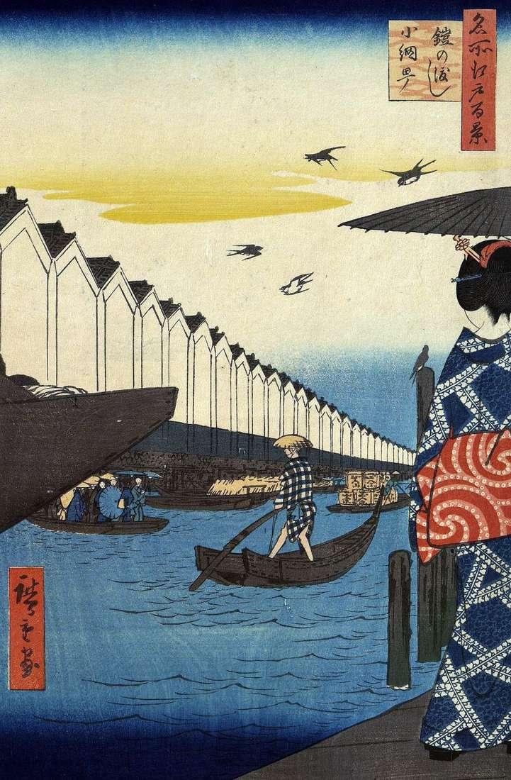 Yeroi no Watasi crossing to Komite by Utagawa Hiroshige