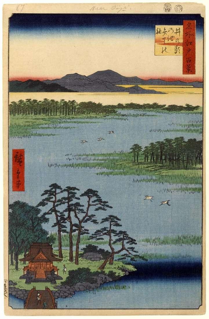 Sanctuary of Benten on the pond of Inokasira no Ike by Utagawa Hiroshige