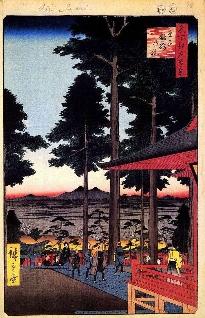 Inari Sanctuary in Ouji by Utagawa Hiroshige