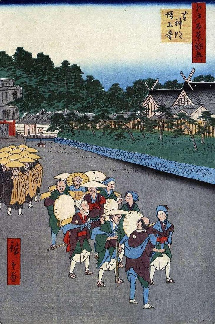 Shiba Shimei Shrine, Dzodzi Monastery in Sib by Utagawa Hiroshige