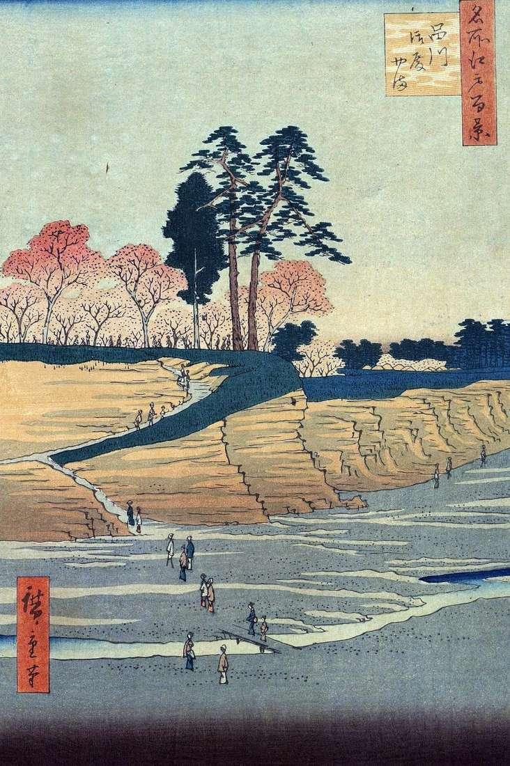 Shinagawa, Mount Gotenyama by Utagawa Hiroshige