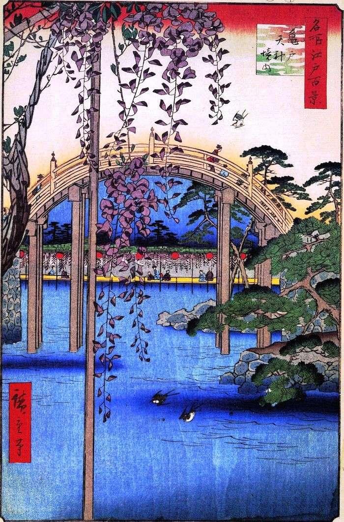 Territory of the Sanctuary of Tenjin in Kameyido by Utagawa Hiroshige