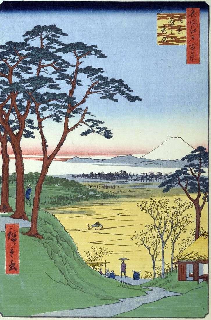Dzijigataya Tea ( Grandfathers Shop) in Meguro by Utagawa Hiroshige