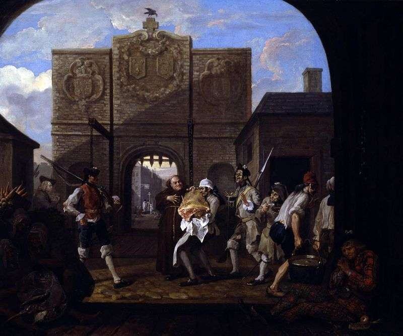 Gates of Calais, or O, roast beef of old England by William Hogarth