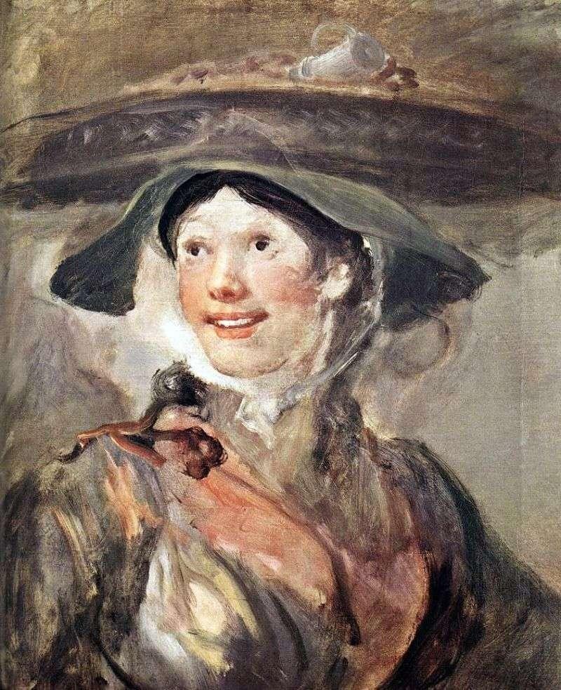 Girl with shrimp by William Hogarth