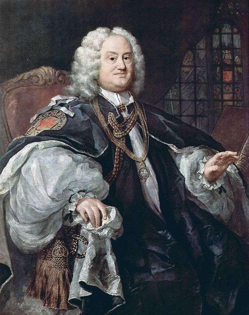 Portrait of Bishop Howley by William Hogarth