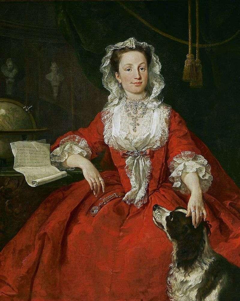 Portrait of Mary Edwards by William Hogarth