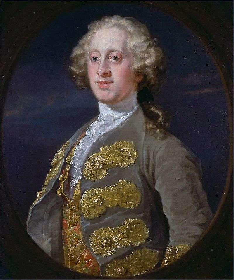 Portrait of William Cavendish, Marquise of Hartington by William Hogarth