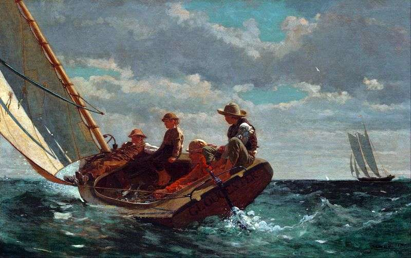 A gust of wind by Winslow Homer