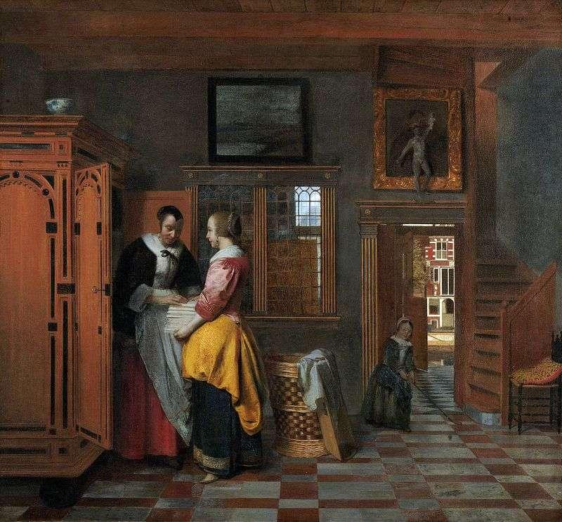 At the linen closet by Peter De Hoch