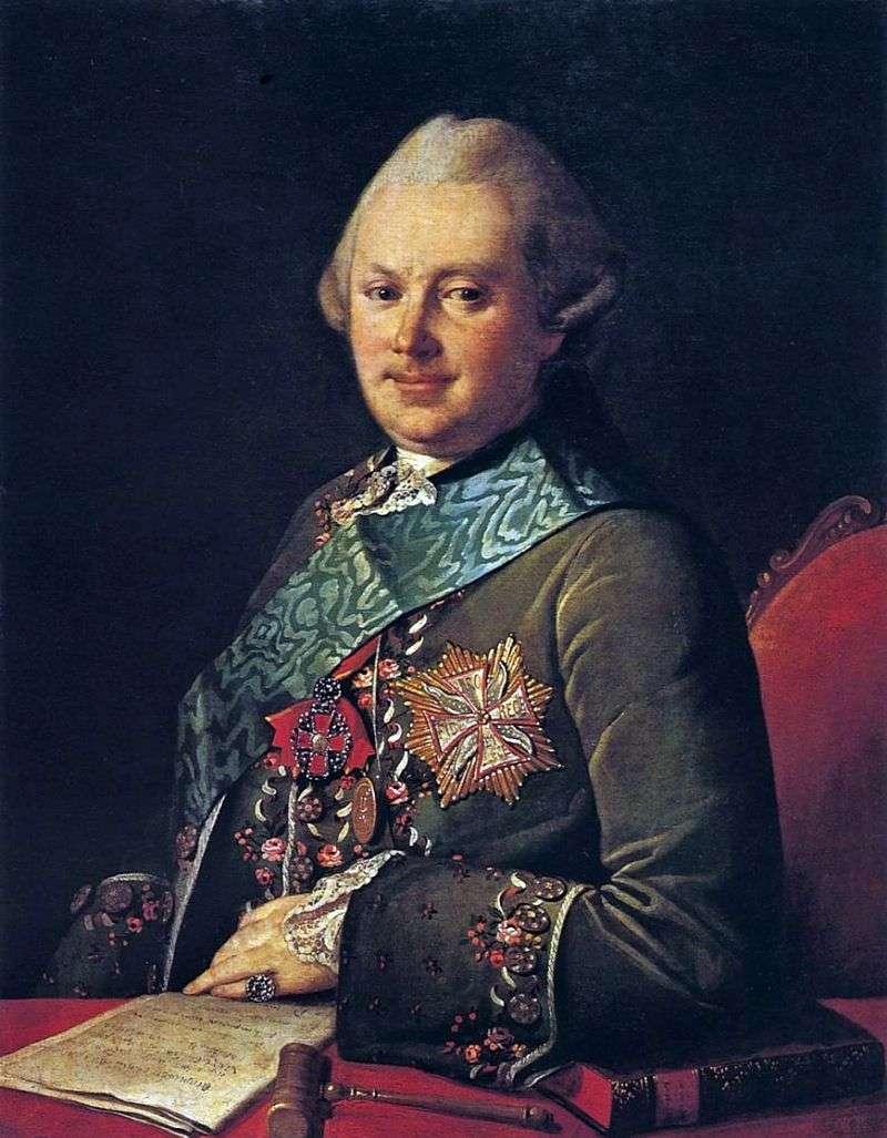 Portrait of Prince AA Vyazemsky by Carl Ludwig Christinek