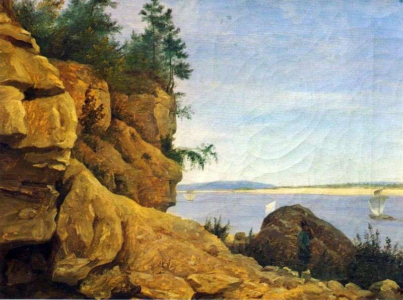 On the Volga. Cliff. Etude by Grigory Grigoryevich Chernetsov