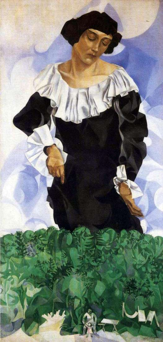 Bella with a white collar by Marc Chagall