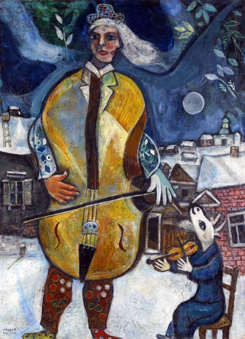 Cellist by Marc Chagall