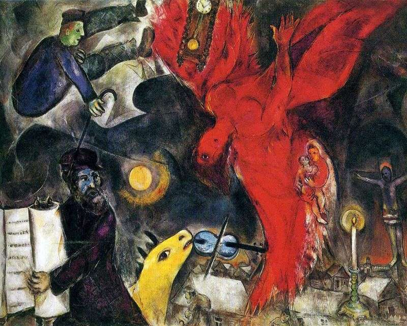 The Fall of an Angel by Marc Chagall