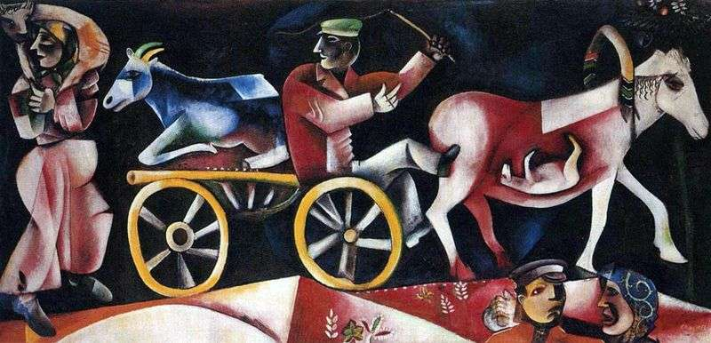 The seller of cattle by Marc Chagall