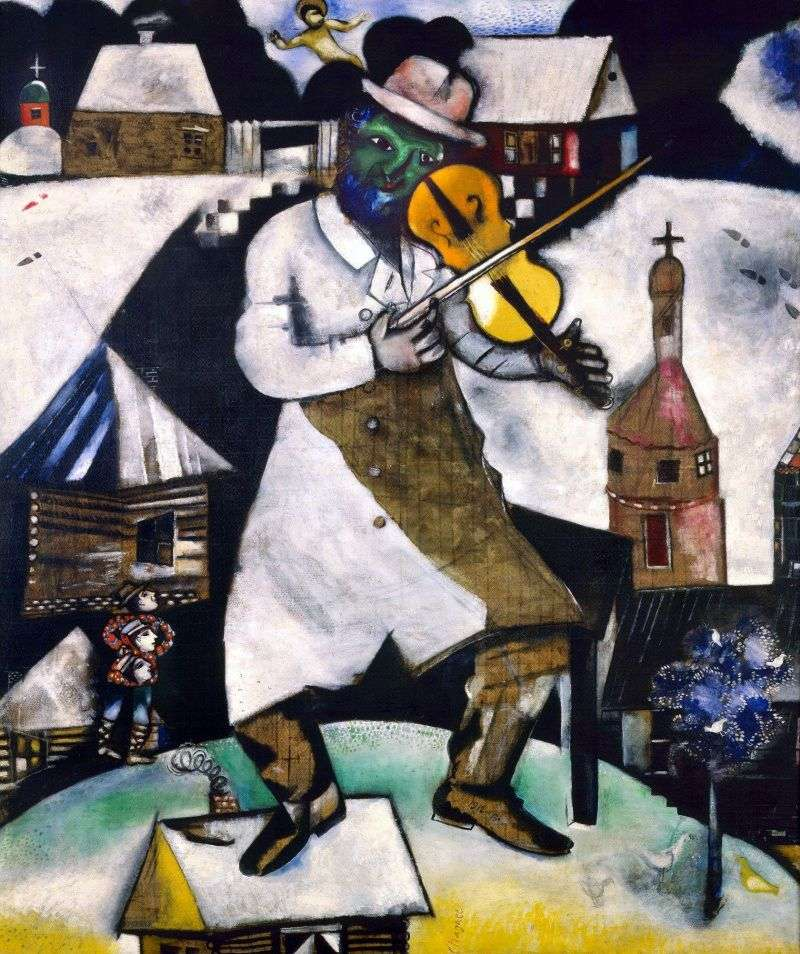 Violinist by Marc Chagall