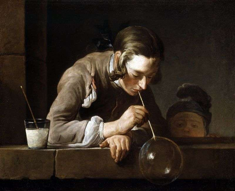 Soap bubbles by Jean Baptiste Chardin