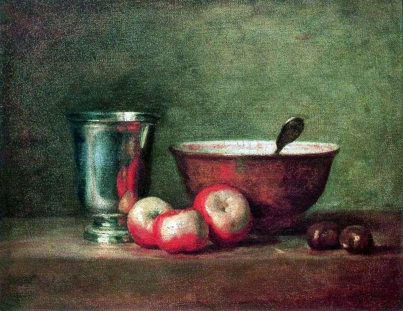 Silver Cup by Jean Baptiste Chardin