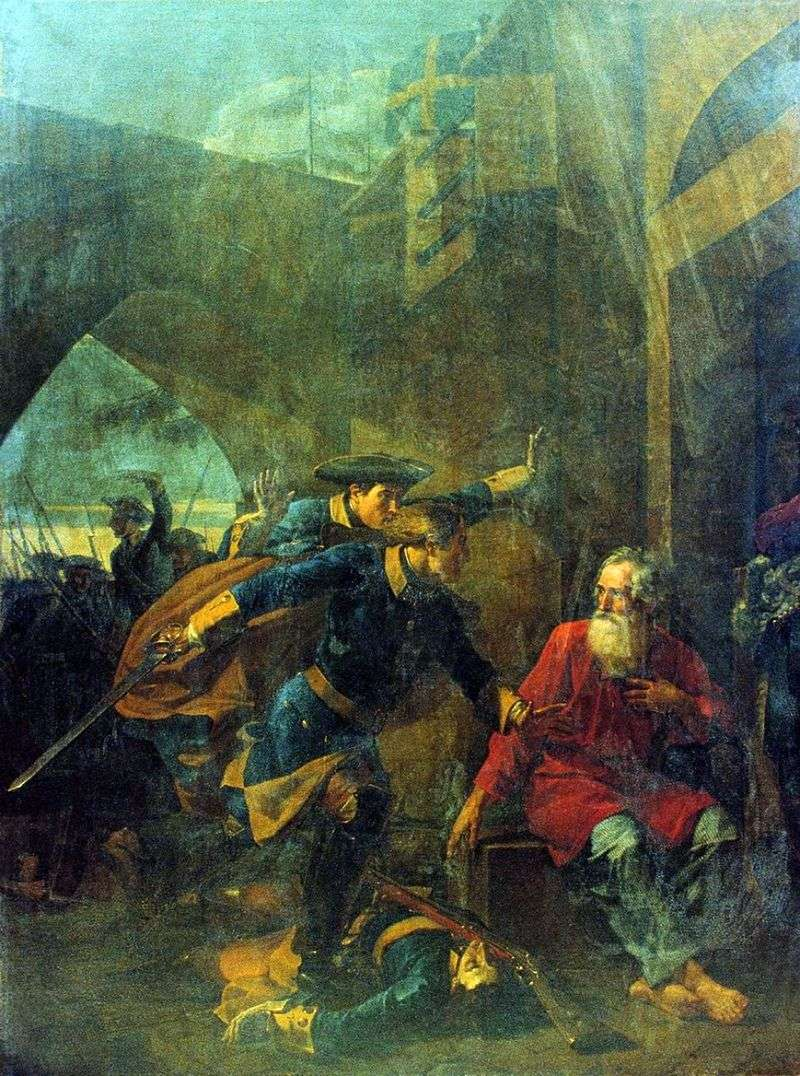 The feat of the merchant Igolkin (Episode from the Northern War) by Vasily Kuzmich Shebuev